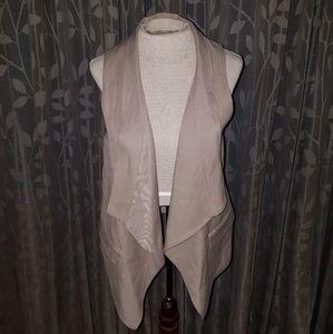 BCBGMAXAZRIA draped front vest